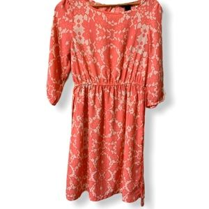 New without tag HM fit & flare floral peach dress